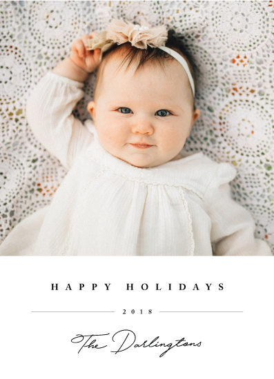 holiday photo cards - Sweet Signature by Chryssi Tsoupanarias