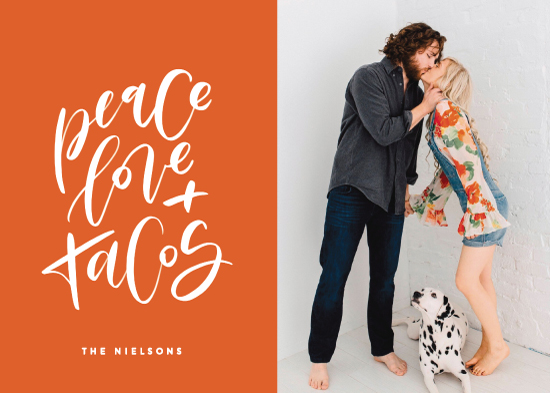 holiday photo cards - Because Tacos by Erin L. Wilson