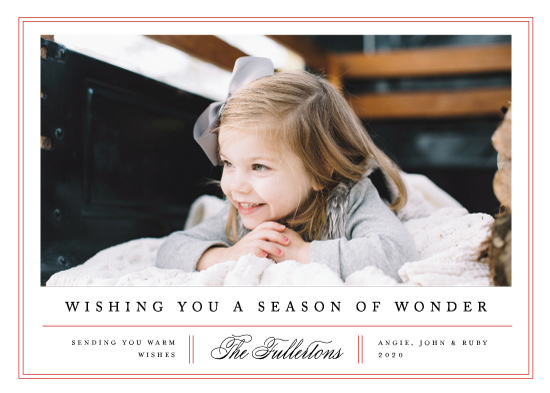 holiday photo cards - Classic Trim by Amy Kross