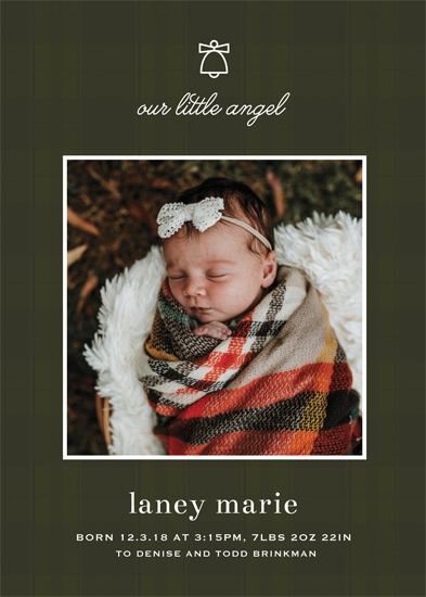 holiday photo cards - Our Little Angel by Gray Star Design