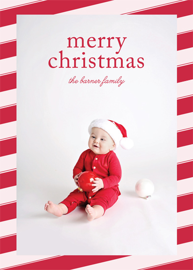 holiday photo cards - Candy Cane Christmas by Gray Star Design