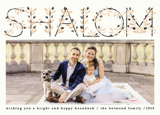 holiday photo cards - Shalom Hanukkah by Ana de Sousa