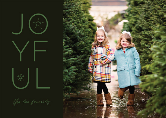 holiday photo cards - Joyful Mod by Gray Star Design