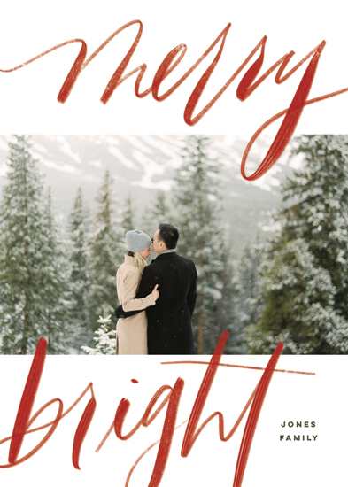 holiday photo cards - Bold Merry + Bright by Elsa Duncan