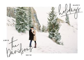 hand-written holiday