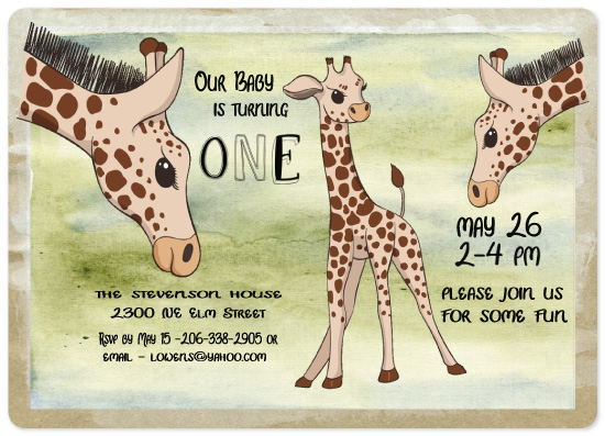 birthday party invitations - Our Little One by A MAZ Design