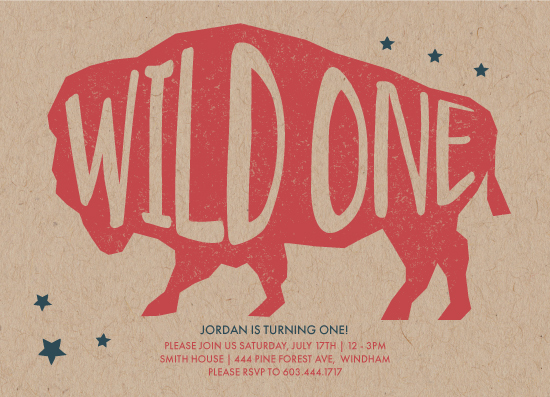 birthday party invitations - Wild Thing by Tennie and Co.