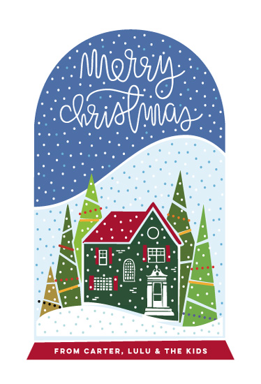 non-photo holiday cards - Snow Shakey Christmas by Rae Kaiser