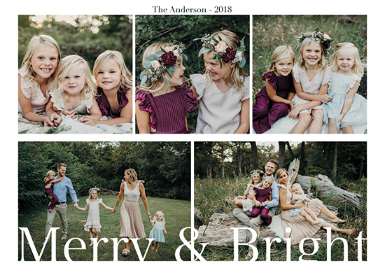 holiday photo cards - Flowery greetings by ALIX SORDET