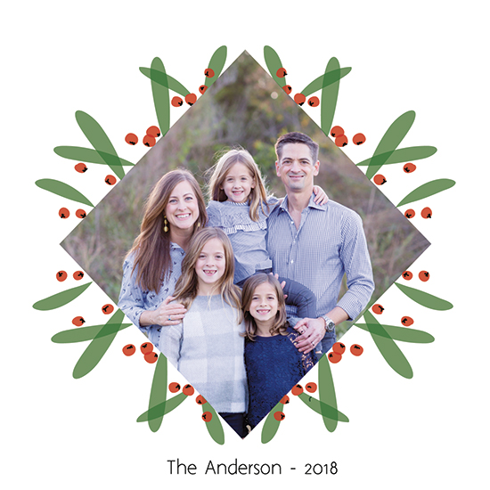 holiday photo cards - christmas foliage by ALIX SORDET