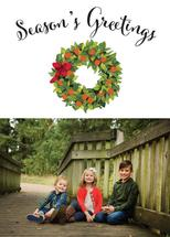 Winter Wreath with Oran... by Heather McLaughlin