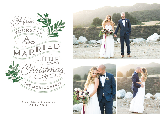 holiday photo cards - A Little Married by Sarah Brown