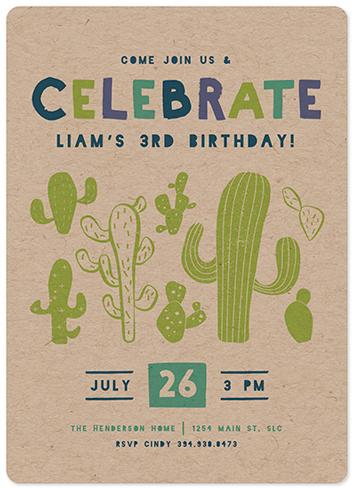 birthday party invitations - Kooky Cactus by Kiersten Garner