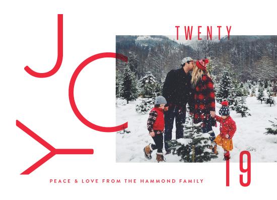 holiday photo cards - Modern Joy by Oscar & Emma