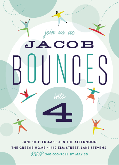birthday party invitations - Bounce into a birthday by Heather Francisco