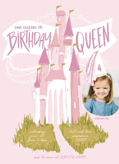 birthday party invitations - Birthday Queen by Krissy Bengtson