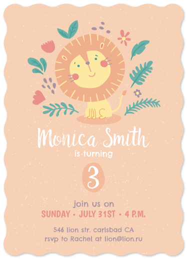 birthday party invitations - Lion Birthday by Leysan Shayakbirova