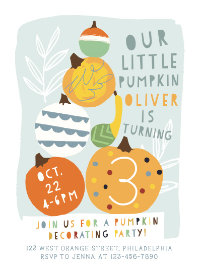 birthday party invitations - Pumpkin Party by Michelle Shanaman