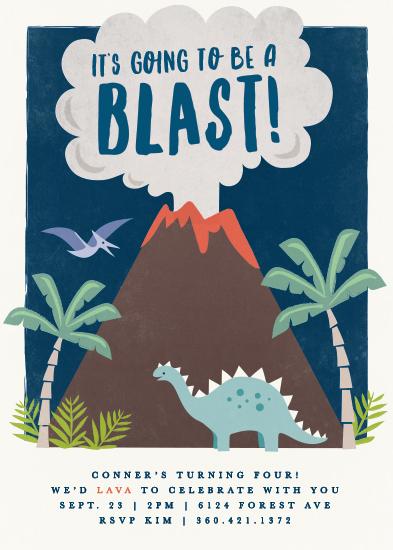 birthday party invitations - volcano blast by Karidy Walker