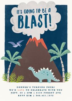 volcano blast
