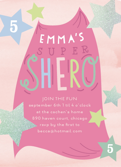 birthday party invitations - Shero Party by Baumbirdy