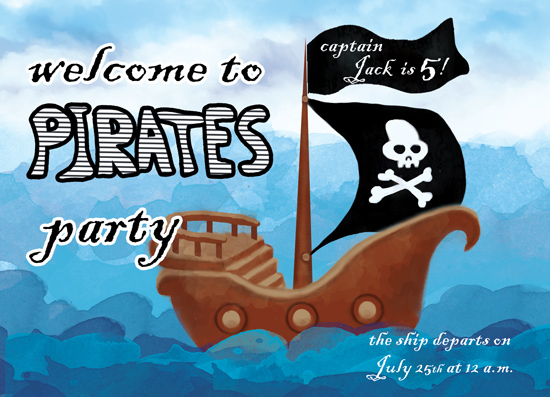 birthday party invitations - Pirates party by Tatyana Raetskaya