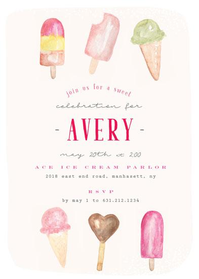 birthday party invitations - Ice Cream Parlor by Nicoletta Savod