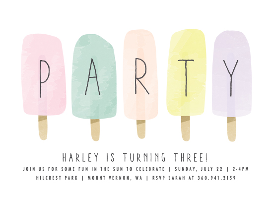 birthday party invitations - sweet fun in the sun by Karidy Walker
