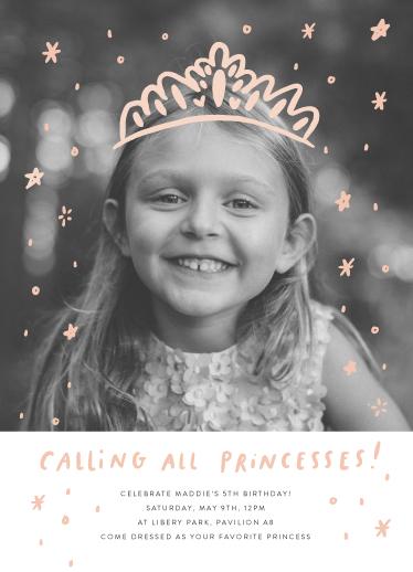 birthday party invitations - Calling All Princesses by Half Pint Studio