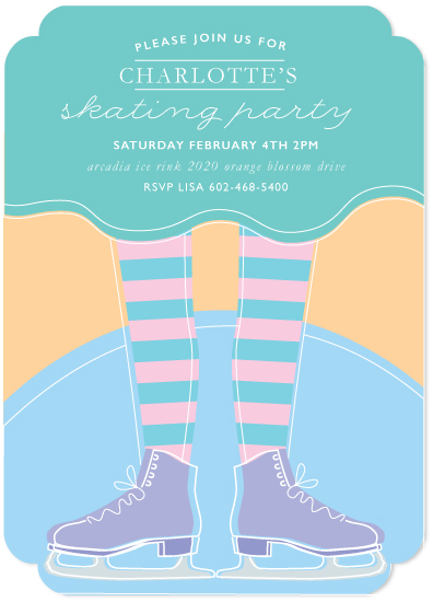 birthday party invitations - skating party by Colleen Steinberg