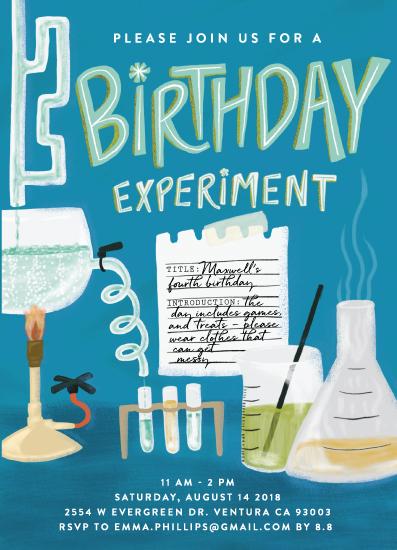 birthday party invitations - Birthday Experiment by Shiny Penny Studio