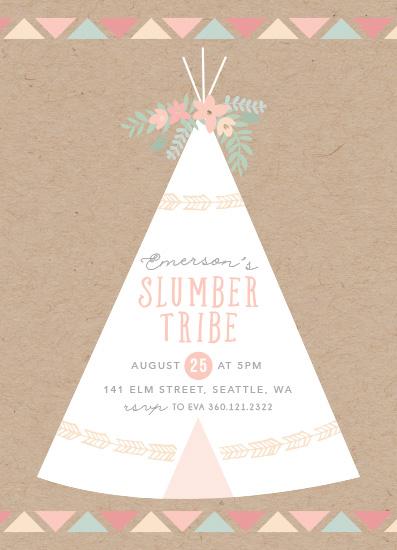 birthday party invitations - Slumber Tribe - Teepee by Hudson Meet Rose