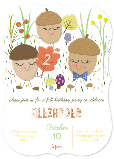 birthday party invitations - Fall party by AMagnes