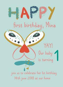 Happy first birthday, Mina