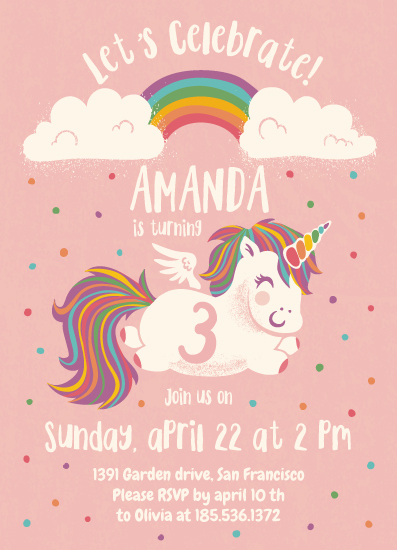 birthday party invitations - Rainbow party by Igor