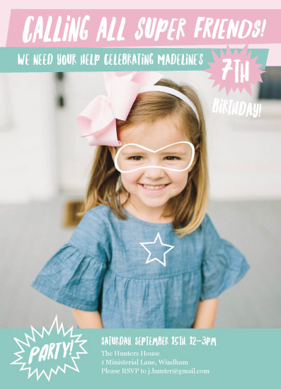 birthday party invitations - Super Friends by Tennie and Co.