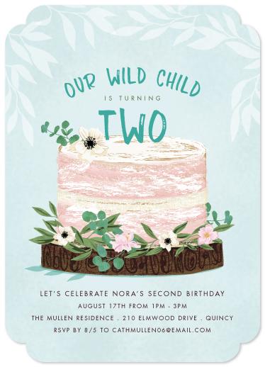 birthday party invitations - Boho Birthday Cake by Paula Pecevich