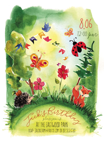 birthday party invitations - Nature Friends by Svitlana Martynjuk