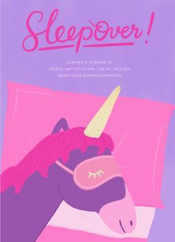 Unicorn Sleepover