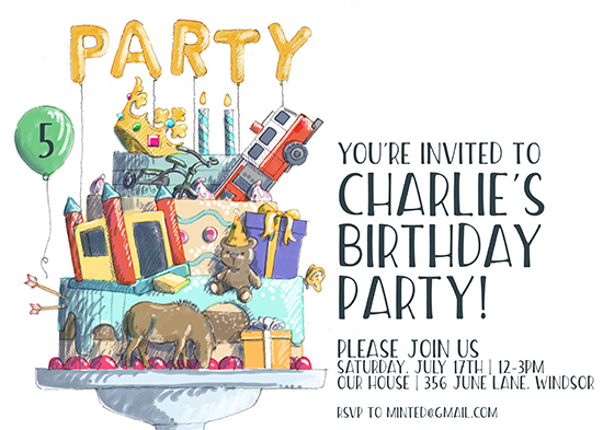 birthday party invitations - It's gonna be a party by Jason Grimes