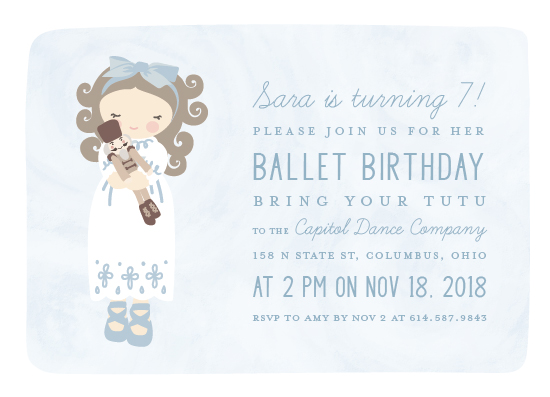 birthday party invitations - tutu by Julee London