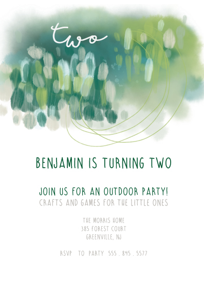 birthday party invitations - Outdoor views by Kelly Corcoran