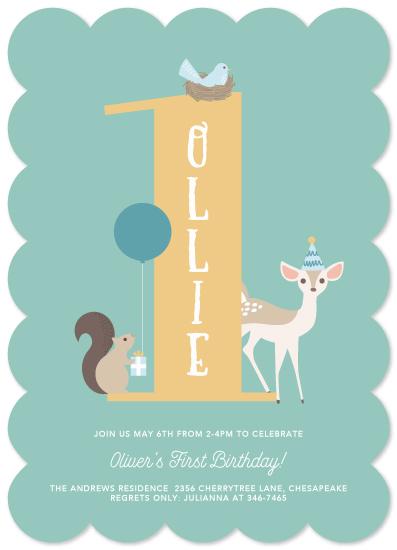 birthday party invitations - Woodland Friends Celebration by Brandy Folse