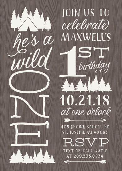 birthday party invitations - Wild One by Sarah Brown
