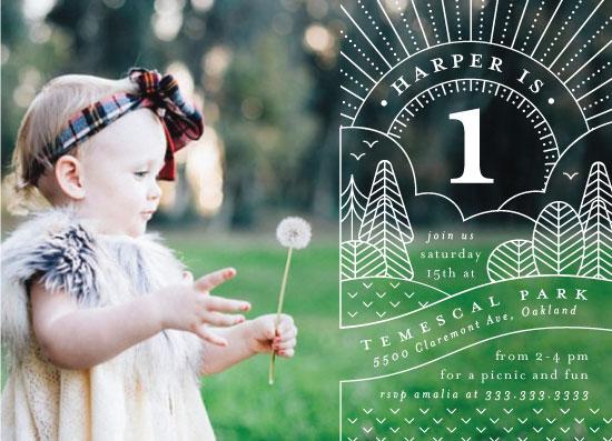 birthday party invitations - at the park by elena diaz