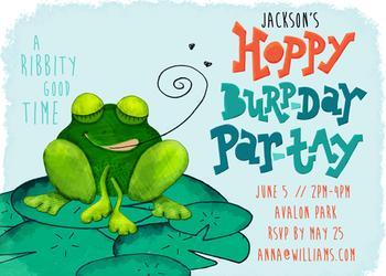 Hoppy BurpDay ParTay - A Ribbity Good Time