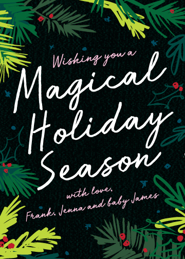non-photo holiday cards - Magical Holiday by Yeah Papers
