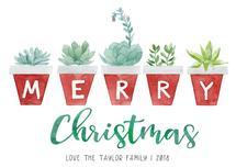 Merry Christmas Succule... by Elizabeth Marie