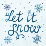 Snowflake Let it Snow by Elizabeth Marie