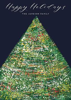 Colourful Christmas tree